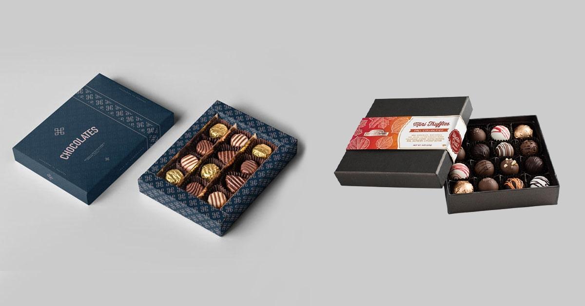 Custom printed truffle boxes
