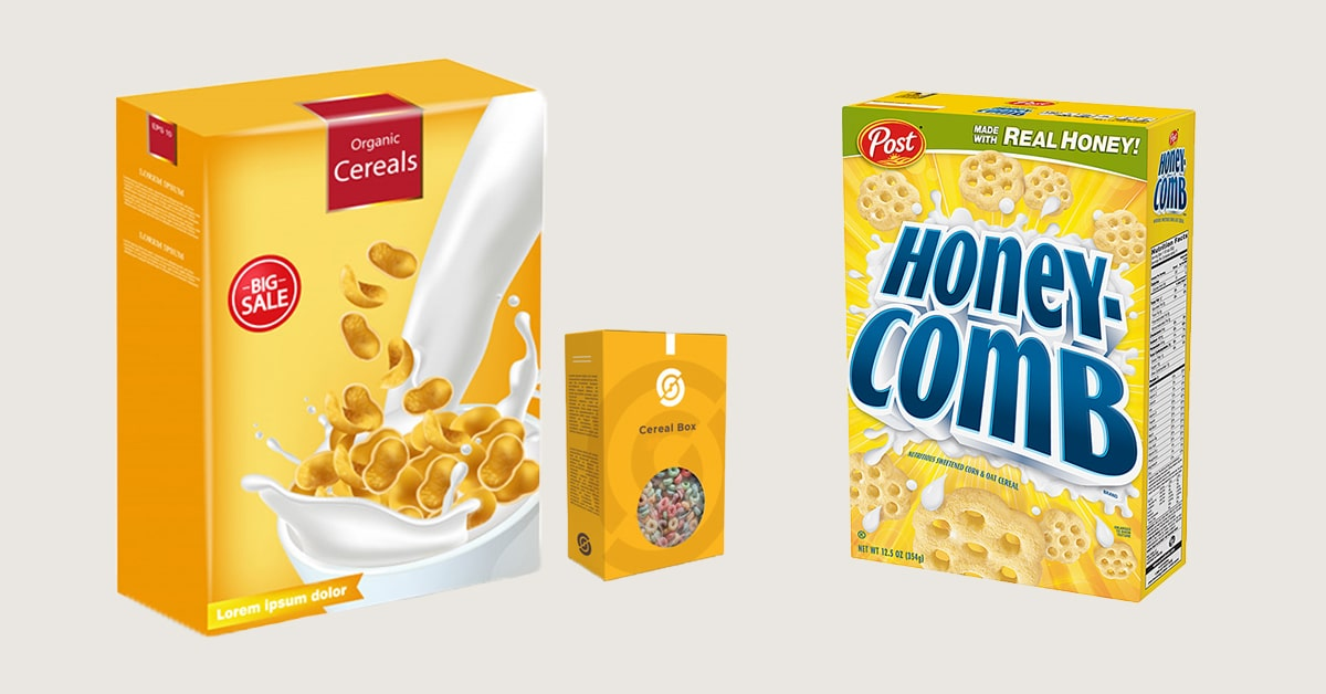 Cereal boxes Packaging